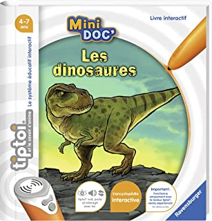 Ravensburger - Livre interactif tiptoi Mini Doc' - Les dinosaures - Jeux électroniques éducatifs sans écran en français - ...