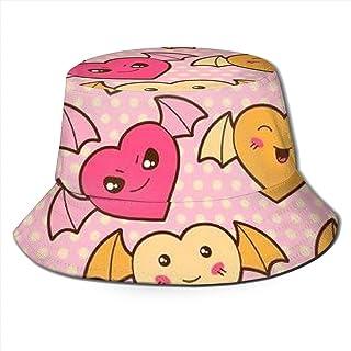 Trushop Unisex Bucket Hat Fisherman Hat Cap Kawaii Cartoon con Corazones Lindos para Hombres Mujeres