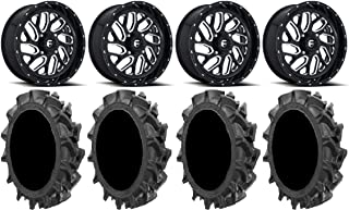 Bundle MSA Mach Switch 20 UTV Wheels 33 R4 Tires 9 Items 4x156 Bolt Pattern 12mmx1.25 Lug kit