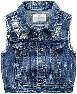 Unisex Kids' Sleeveless Denim Vest Cute Kids' Gilet for 0-6