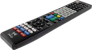SeKi Fernbedienung passend für Sharp   Funktioniert mit Allen Sharp Geräten (TV, Fernseher Smart TV, DVD, LED TV und 4K), mit zusätzlicher Lernfunktion