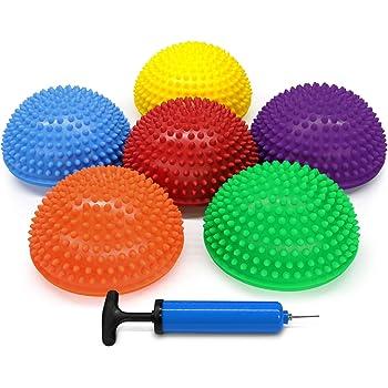 Yes4All erizo cojines de equilibrio con bomba de mano–varios colores (juego de 6)