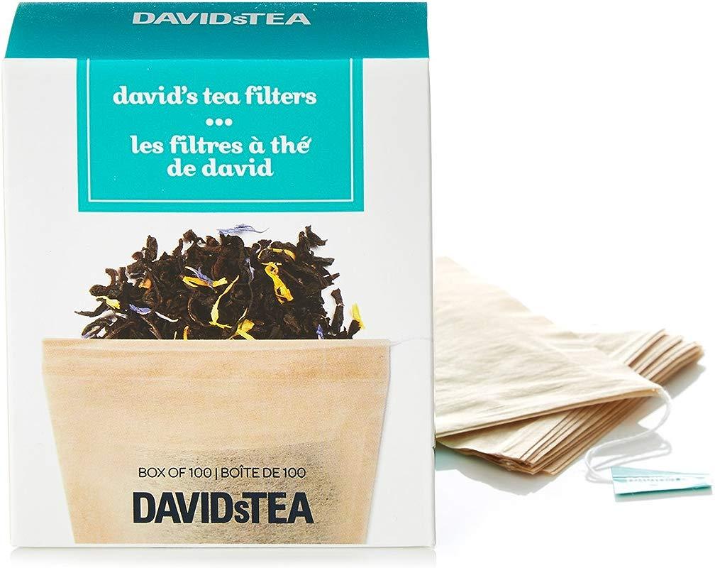 DAVIDsTEA Tea Filters Drawstring Teabags For Loose Leaf Tea OXO Biodegradable Pack Of 100