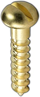 #3 X 1//4 Wood Screws Flat Slot Brass 150 pcs