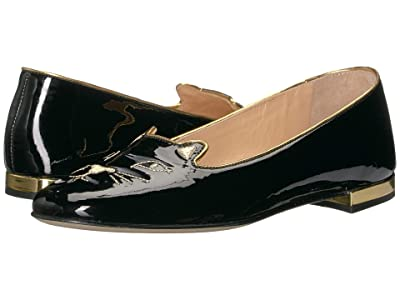 Charlotte Olympia Soft Kitty Flats (Black Patent) Women