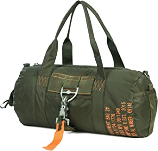 AIR FORCE Military Duffle Bag Parachute Buckles Hook Water Resistant Duty Nylon Tactical Duffel Style for Military Camping Hunting Hiking Travelling GYM