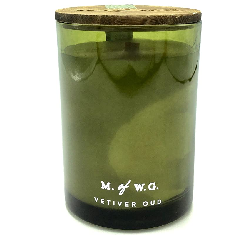 コーヒー探偵テンションMakersワックスのGoods Vetiver Oud Wood Wick Scented Candle