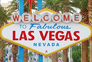 LFEEY 5x3ft Fabulous Las Vegas Backdrop World Famous America Nevada Casino Gambiling City Sign Landmark Photography Background for Portraits Vacation Travel Photo Booth Props