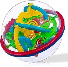 iNeego 3D Laberinto Bola 12cm Pelota Pasatiempos con Laberinto 4.7inch Juegos de Educación Mágica Rompecabezas Intelecto Bola Laberinto para Niños Adultos 12cm/ 4.7inch