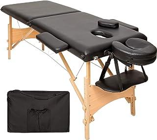 TecTake Table de massage 2 zones pliante cosmetique lit de massage portable + housse de transport - diverses couleurs au c...