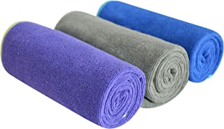 SINLAND Microfiber Gym Towels Sports Fitness Workout Sweat Towel Fast Drying 3 Pack 16 Inch X 32 Inch