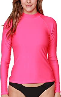 INGEAR Women`s UV Sun Protection Long Sleeve Rash Guard Wetsuit Swimsuit Top
