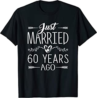 Anniversary Gift 60th 60 years Wedding Marriage Couples T-Shirt