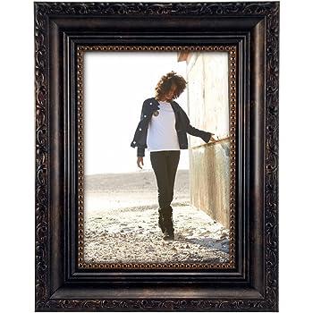 8x10 Malden International Designs Classic Mouldings Black Bead Fashion Picture Frame Black