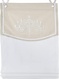 Kutti Orleans Estor Plegable sin taladrar Crema ca. 45 x 140 cm