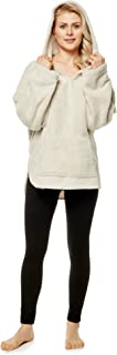 Arus Women's Hooded Pullover Sweater Robe Bed Jacket