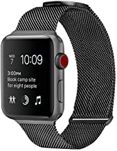 WareWel - Stainless Steel Apple Watch Compatible Bands...