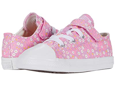 Converse Kids Chuck Taylor(r) All Star(r) 1V Floral (Infant/Toddler) (Peony Pink/Topaz Gold/White) Girl