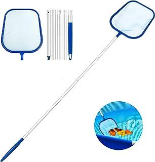 Familybox Red de Piscina Kit, Skimmer Recoge Hojas Recogehojas para Pisina con Barra telescópica de Aluminio Desmontable de Limpieza Kit de Mantenimiento para Piscinas (Skimmer Piscina Desnatadora)