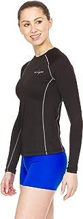 Thermajane - playera de compresión de manga larga para mujer, para entrenamiento atlético y correr