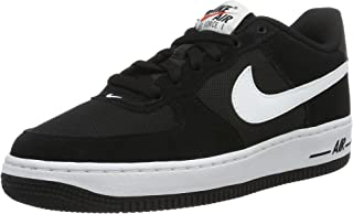 Nike Youth Air Force 1 (GS) Boys Basketball Shoes Black/White 596728-026 Size 6
