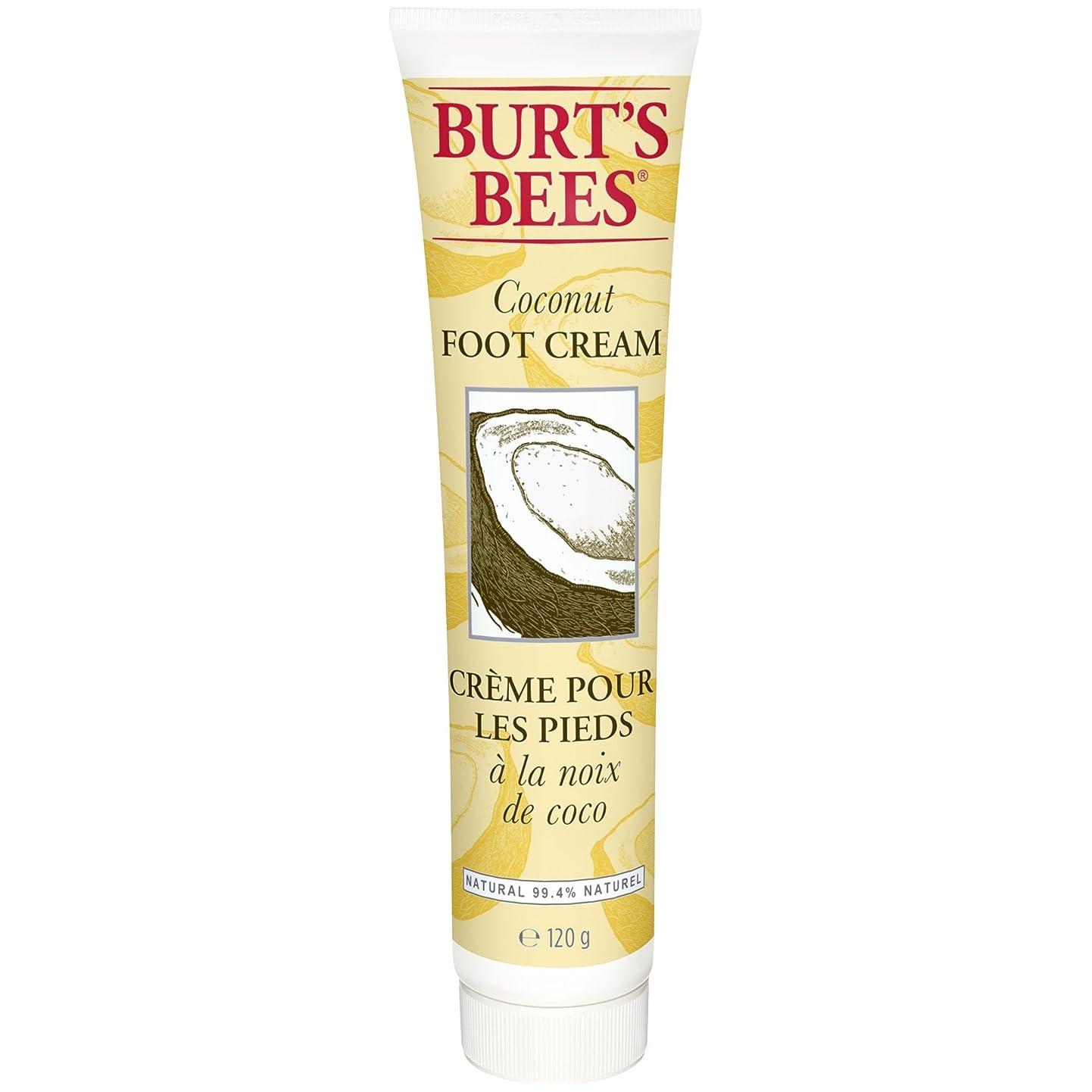 逆さまにカリングライブバーツビーのココナッツフットクリーム123グラム (Burt's Bees) - Burt's Bees Coconut Foot Creme 123g [並行輸入品]