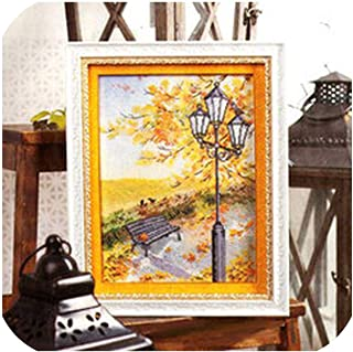 C1472 Golden Autumn Scenery Precision Printing kit Cross Stitch Embroidery Kits Counted Cross Stitch Kit,28CT unprinted