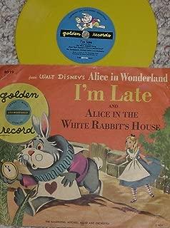 Walt Disney I'm Late b/w Alice In Wonderland In White Rabbit's House The