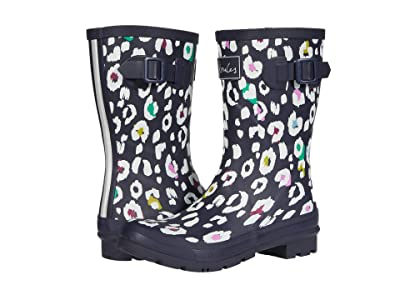 Joules Molly Welly (Navy Leopard) Women