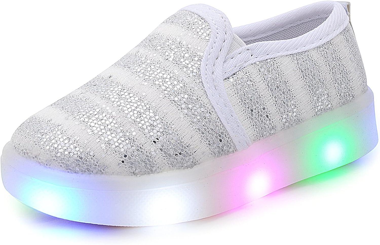 UBELLA Children Boys Girls Slip-on Flashing LED Gomminos Loafers