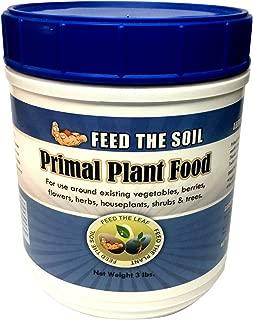 Premium Organic Fertilizer - Primal Plant Food - Best Indoor & Outdoor Fertilizer - Grow Healthy Plants and Vegetables Without Damaging Soil - 100% Organic - Rock-Powder Based Organic Ingredients
