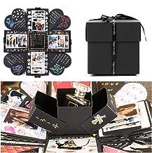 EKKONG Explosion Box Scrapbook Creative DIY Photo Album de Accesorios para cumpleaños Aniversario Boda San Valentín Día de la Madre Navidad (Negro)