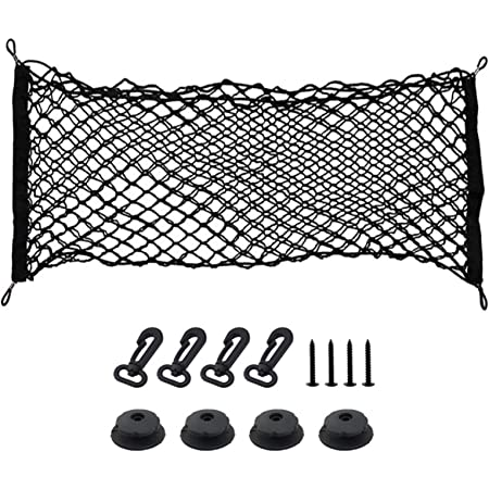 Yudanny Filet universel de stockage arri/ère de voiture sac de rangement pour organisateur de stockage de ficelle /élastique de filet de chargement pour le fourgon