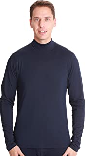 Men's Long Sleeve Performance Thermal Shirt Compression Base Layer Mock Neck Top