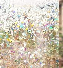 rabbitgoo 3D Vinilos para Cristales Ventanas, Translúcido Lamina Privacidad Decorativos Sin Pegamento Vinilo Adhesivo Aplicables Electristáticamente para Puertas Cocina Oficina Baño Ducha 44.5X300CM