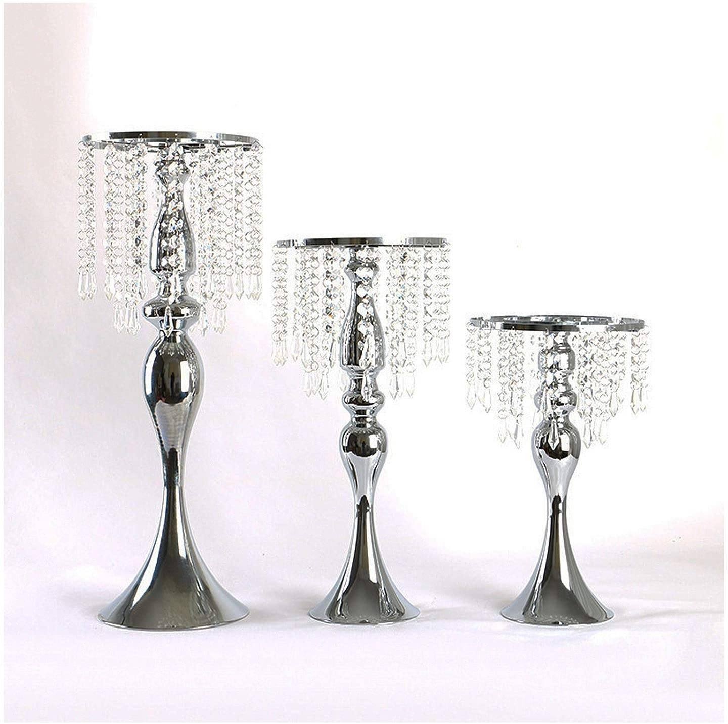 DUOWEI Acrylic Imitation Crystal free shipping Candle Holder 2 of Weekly update Set Stand