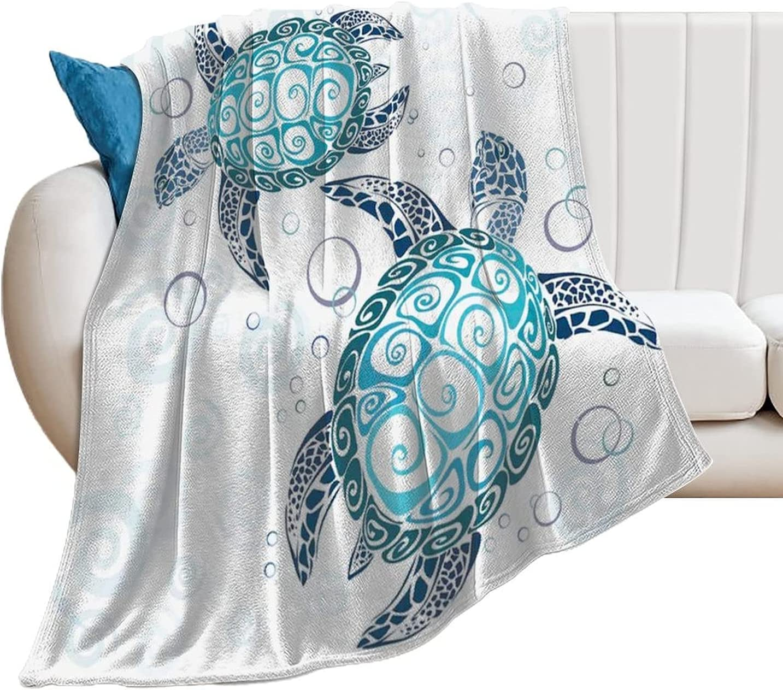 EFOEKY Turtle Ultra Soft Fleece Blanket Aqua Kids Blu for Adults 営業 価格交渉OK送料無料