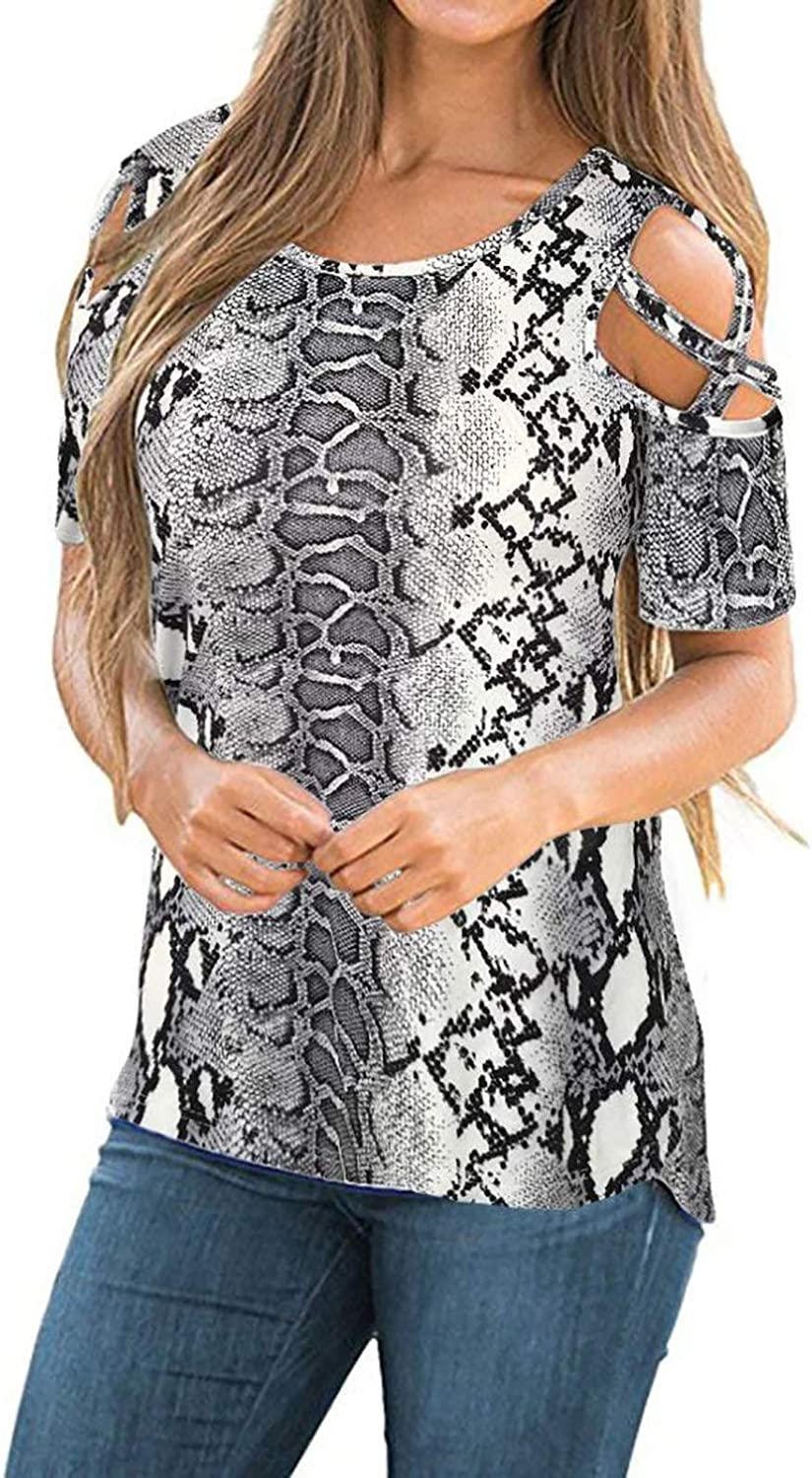 New life NYFF Japan's largest assortment Women Summer Shoulder T-Shirt Floral Strappy Cold