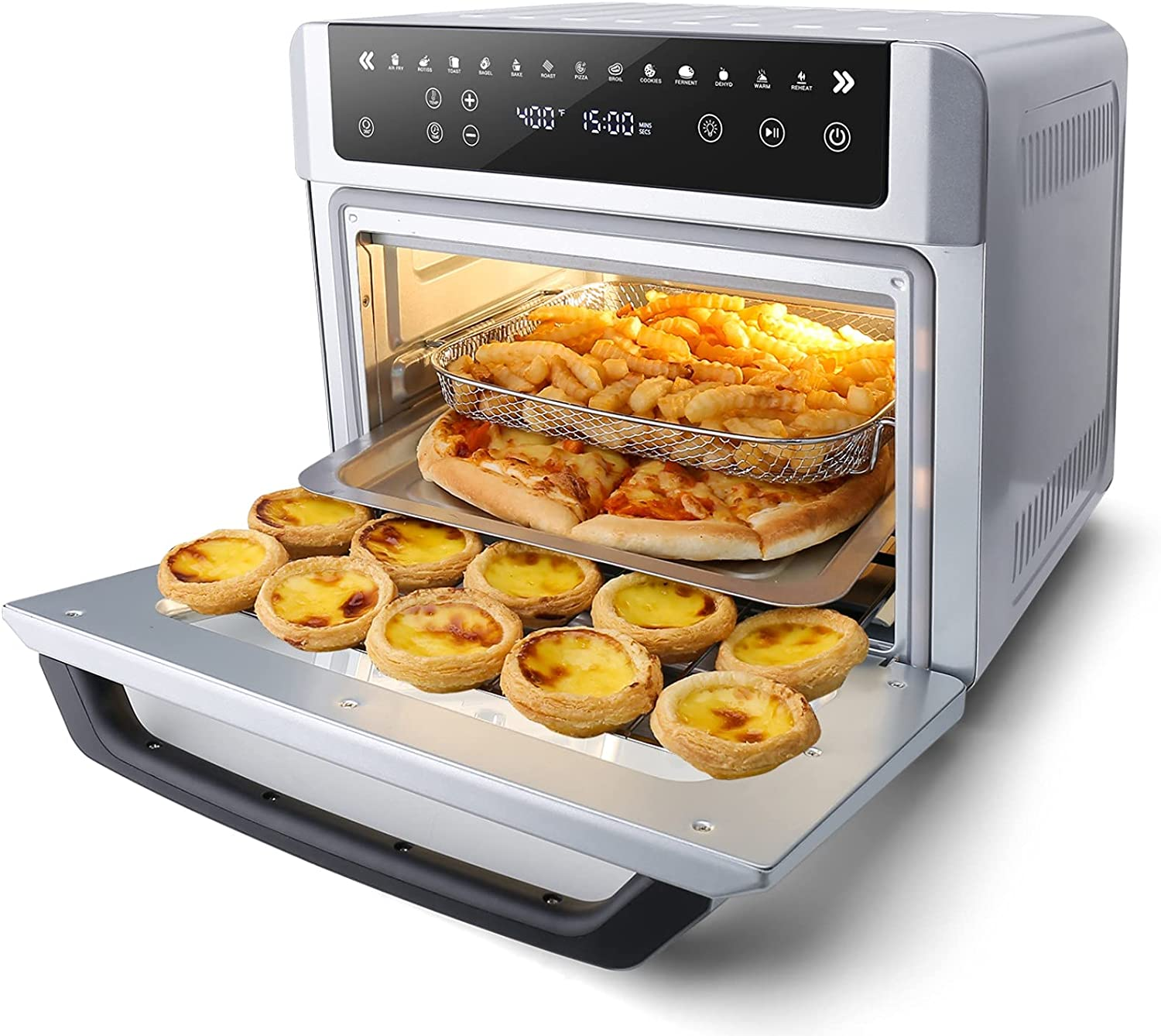 Gevi Air Fryer Toaster Oven Combo Super intense SALE Safety and trust LED Digital Large Conv Screen