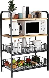 Etagère De Rangement Cuisine utilitaire étagère rack de rangement à 4 niveaux pour four Baker Spice Home Organisateur Post...