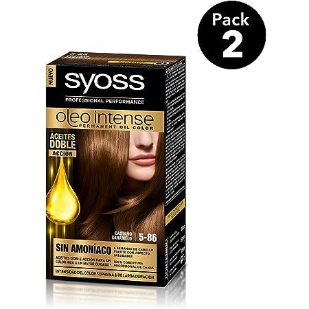 SYOSS - Oleo Intense Coloración Permanente Sin Amoníaco - Tono 5-86 Castaño Caramelo - 2 uds