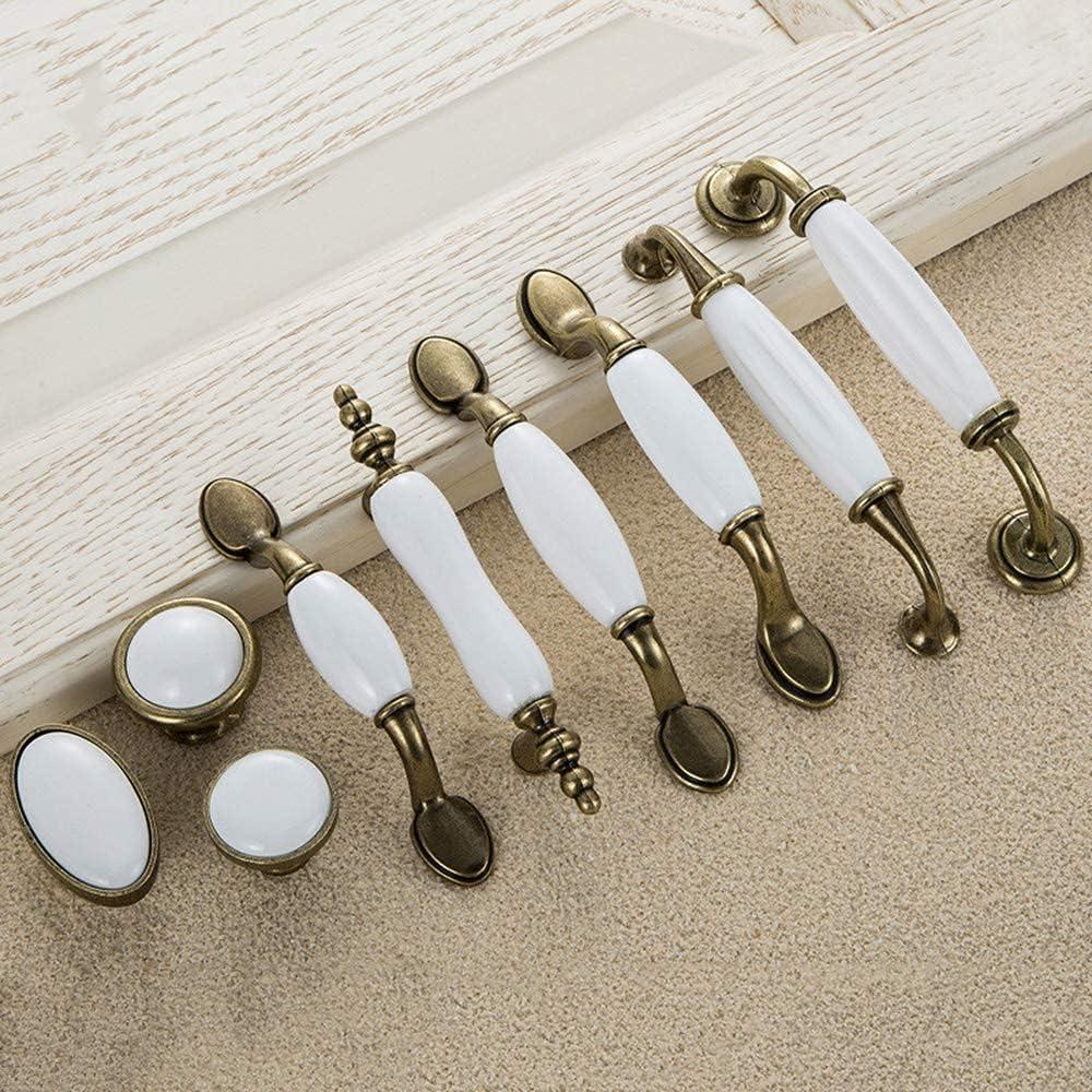 YANJ 2pcs Door Handles Antiq White Max 88% OFF European Large-scale sale Ceramic