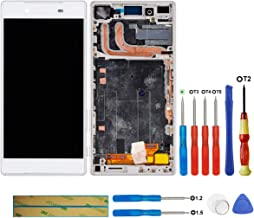 swark LCD Display Compatible with Sony Xperia Z5 E6603 E6653 E6683(White + Frame Touch Screen Display + Tools
