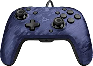 PDP 500-134-NA-CM02 Nintendo Switch Faceoff Deluxe+ Audio Wired Controller - Blue Camo