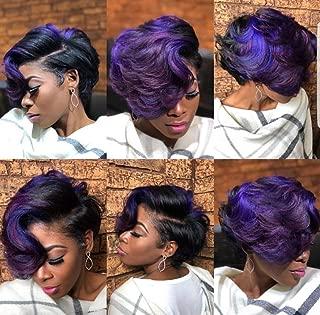 BeiSD Short Colored Hair Wigs For Women Short Synthetic Wigs For Black Women Short Pixie Cut Wigs Blonde Black Purple Orange Wigs (XPW029)