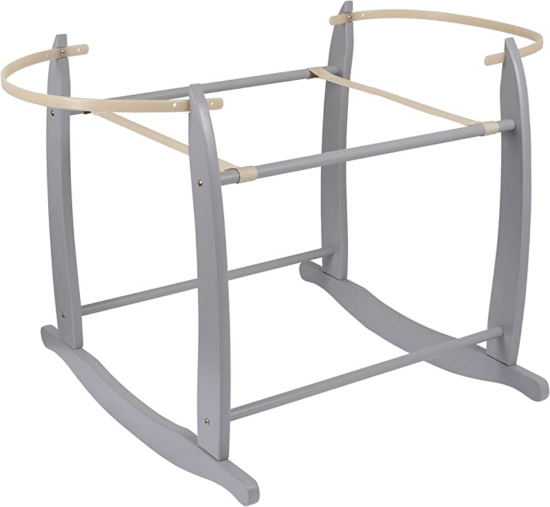 Clair De Lune Deluxe Grey Moses Basket Rocking Stand