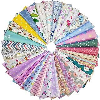 YXJDWEI 25pcs Tissu en Coton Imprimé Patchwork Textile pour DIY Couture Scrapbooking Quilting Couverture Coussin 30cm Carr...