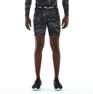 سراويل قصيرة ضاغطة للرجال من RUXN - سراويل قصيرة للتمرين للرجال - طبقة أساسية من الملابس الداخلية سريعة الجفاف