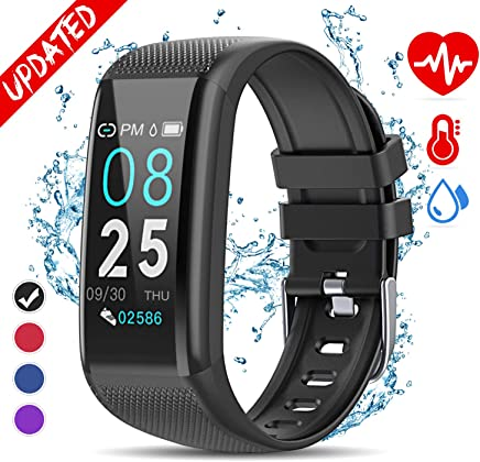 Golden hour Fitness Tracker HR, Activity Tracker with Heart Rate Monitor, IP67 Waterproof Smart Bracelet with Step, Calorie Counter, Sleep Monitor, Pedometer, Health Watch for Men Women Kids
