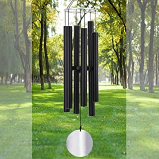 Large Wind Chime Outdoor Deep Tone45 Inch Sympathy Winchimes Outdoor Unique with 6 Tubes Tuned Low ToneAmazing Grace Wind ...